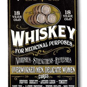DUB 35 whiskey retro sign