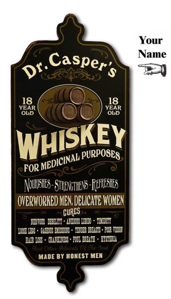 DUB 35x whiskey retro sign