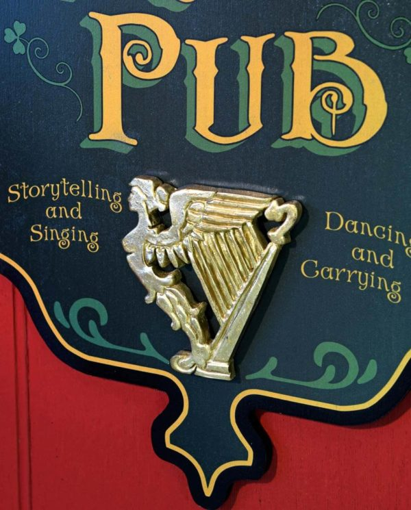 DUB 52 Irish Pub 2 sign erin go braugh