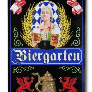 DUB 55 Biergarten german beer sign