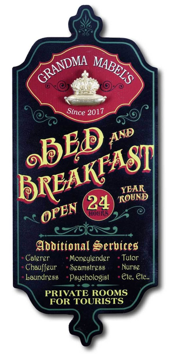 DUB 58 bed breakfast retro sign