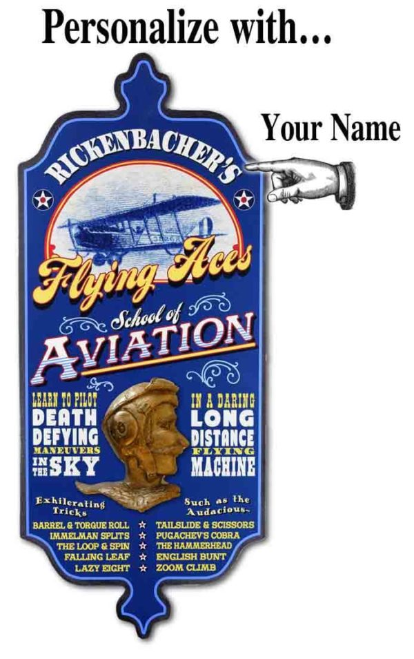 DUB 65 Flying AcesX aviation retro sign