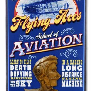 DUB 65 Flying Aces aviation retro sign