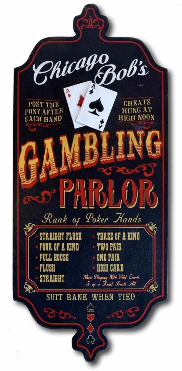 Dub 29 gambling card poker sign