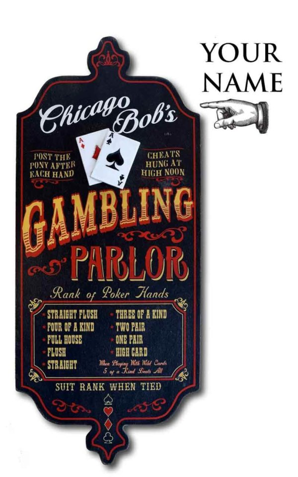 Dub 29x gambling card poker sign
