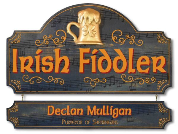 Irish fiddler sign