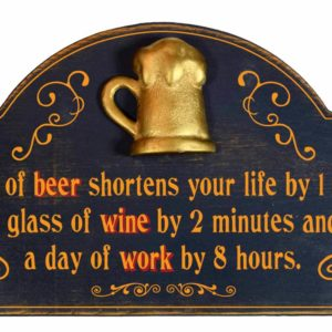 a glass of beer shortens your life