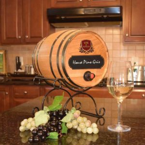 chalkboard barrel wine