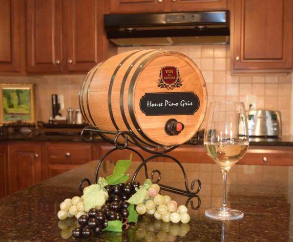 chalkboard barrel wine