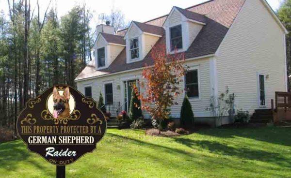 g shepherd yard sign