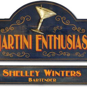 martini enthusiast sign