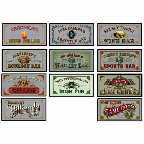 mirror bar man cave signs 2