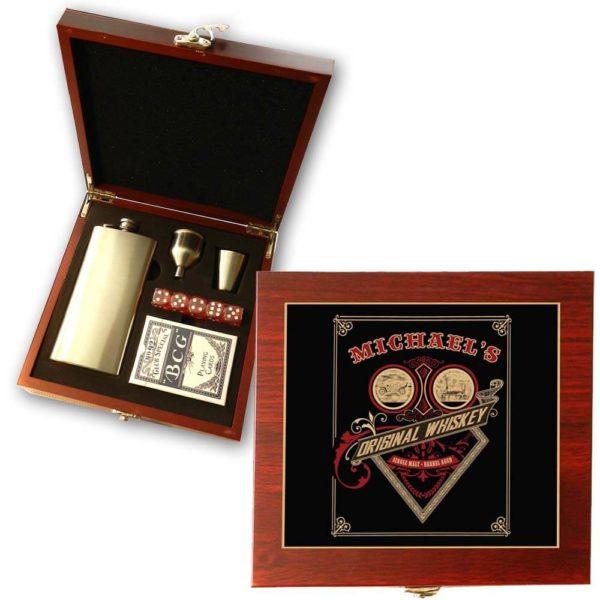 original whiskey poker gift set