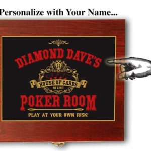 poker room card flask gift set