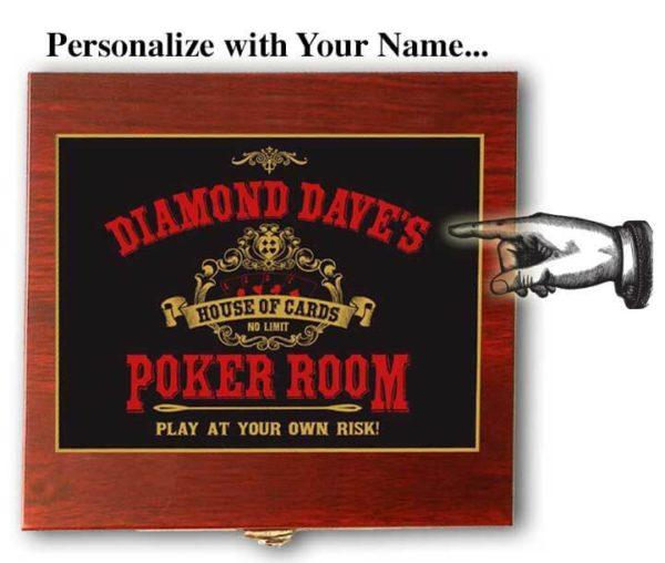 poker room card flask gift set