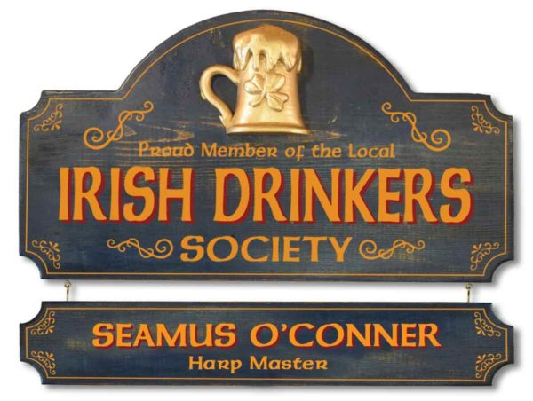 proud member of the local irish drinkers society