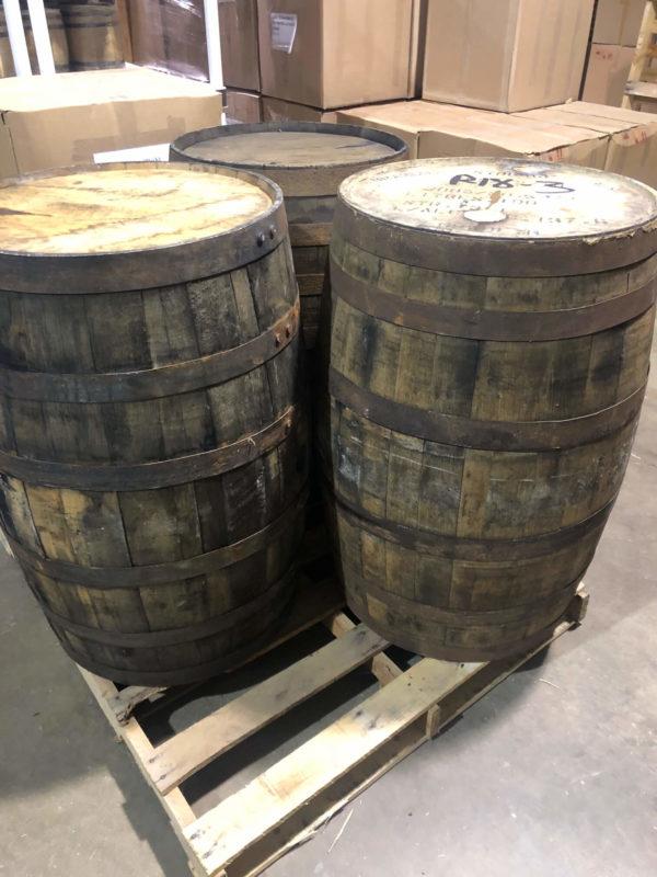used bourbon barrel