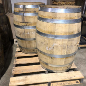used whiskey barrels