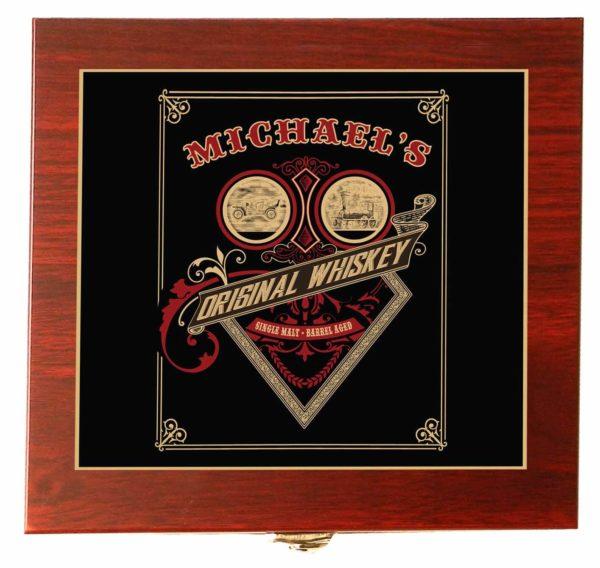 whiskey card gift set