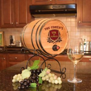 wine barrel dispenser familia