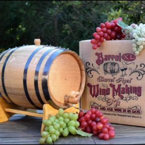 wine making oak barrel