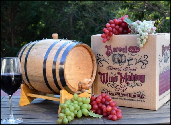 wine making oak barrel