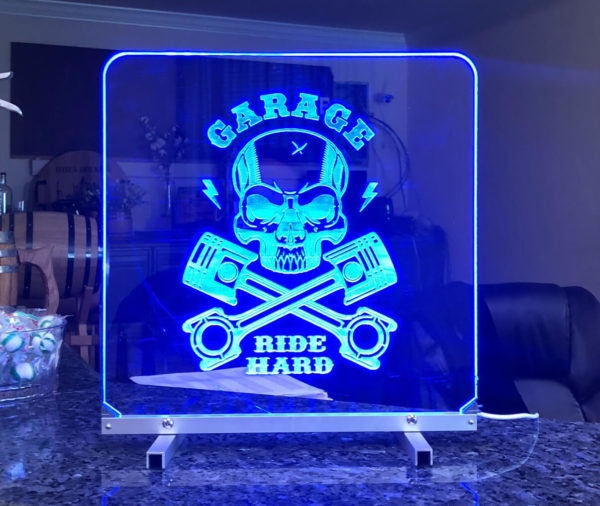 Led light sign blue2