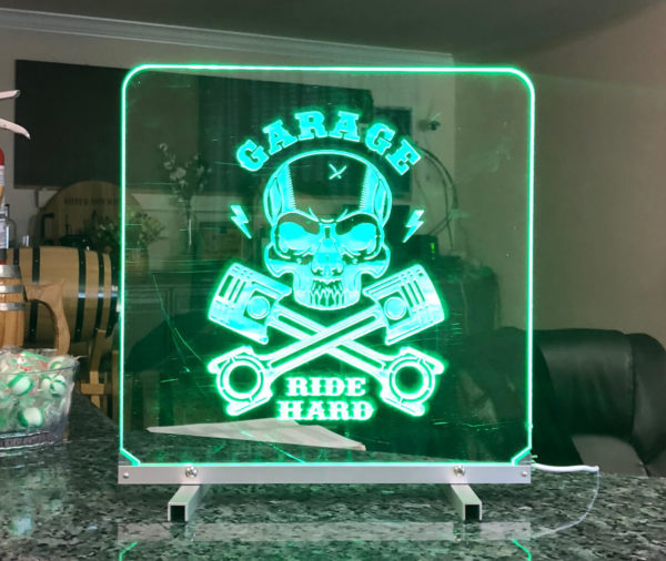 Led light sign green