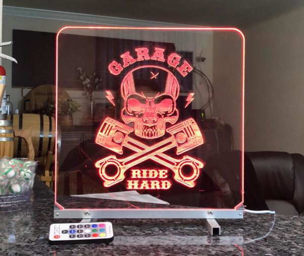 Led light sign red