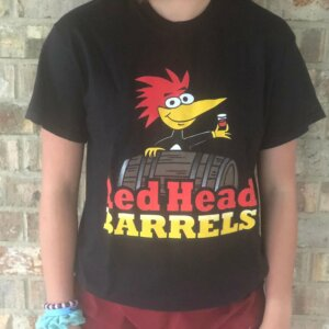 T shirt Red head barrels black