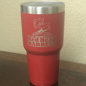 red head log tumbler