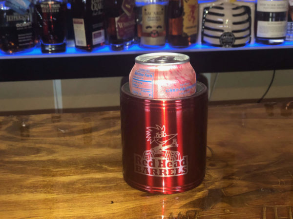 stainless koozie red head Barrels