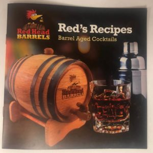 barrel aged cocktail recipe booklet