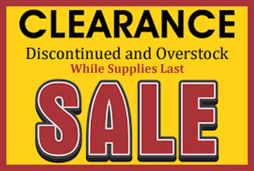 Clearance - Overstock - Discontinued