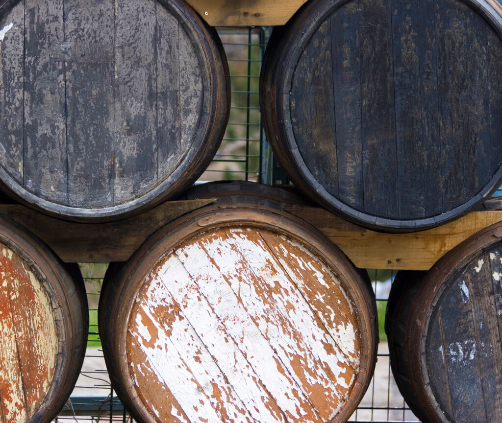 small whiskey barrels